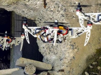 可折叠无人机亮相 可穿过狭窄山区地形