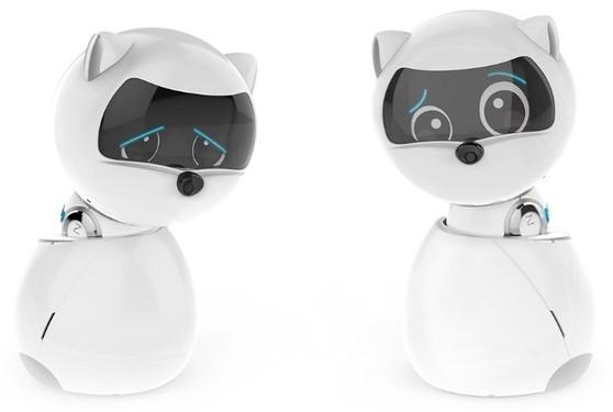 小狗机器人的眼睛看起来有点懒散,能在可伸缩的轮子上独立移动,并通