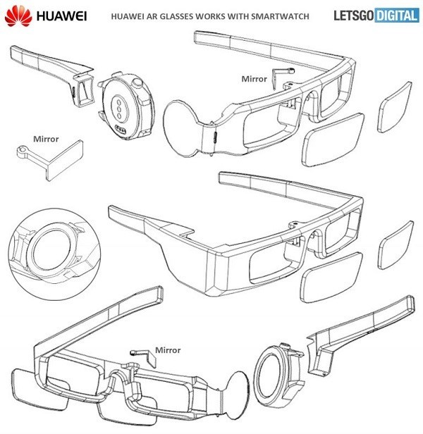 华为智能眼镜专利