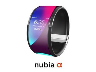 努比亚α渲染图再曝光 能直能弯的柔性屏手机将发布!