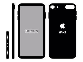 苹果iPod touch 7疑?#23631;?#30456; 无刘海设计边框宽度感人