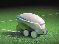 橄榄球场上的划线机器人 GPS超高精度划线省时又省力