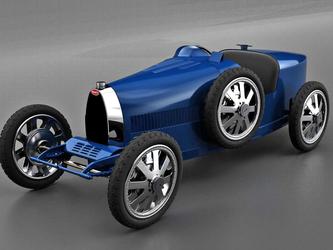 布加迪致敬经典赛车 发布限量版电动Bugatti Baby 2