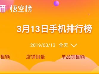 苏宁焕新节悟空榜13日榜单 苹果一马当先¡¢华为紧咬