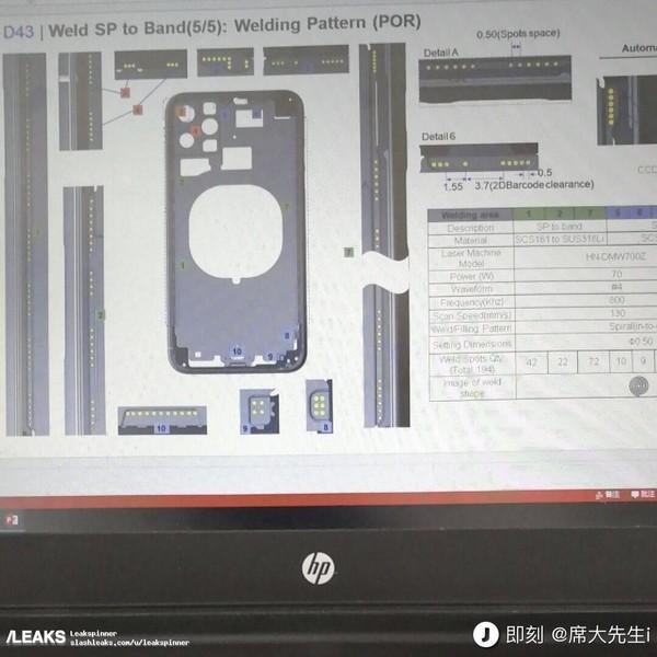 疑似iPhone XI工程设计图(图源Slashleaks)