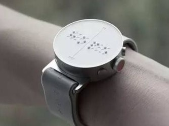 世界首款盲人智能手表再曝光 让盲人收发信息更轻松