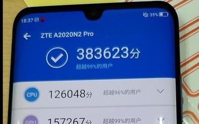 中兴Axon 10 Pro安兔兔跑分曝光 骁龙855得分超38万