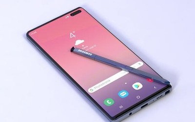 三星Note10全新渲染图曝光 S-Pen竟暗藏拍照黑科技