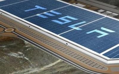 世界最大电池工厂 特斯拉1号超级工厂加装太阳能板