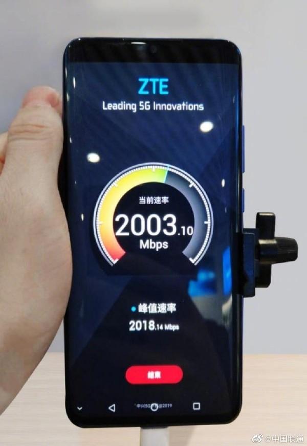 5G网速高达2000Mbps
