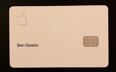 苹果Apple Card信用卡曝光 钛合金材质/极简设计/返现3%