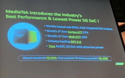 聯發科技戰5G時代 全新SoC芯片助力5G旗艦機上市