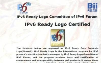 长亭科技雷池获IPv6ReadyLogoPhase-2认证