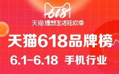 华为坐稳天猫618品牌销量榜首 华为P30系列表现亮眼