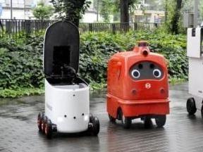 日本推自动行走送货机器人 缓解运输行业人手不足
