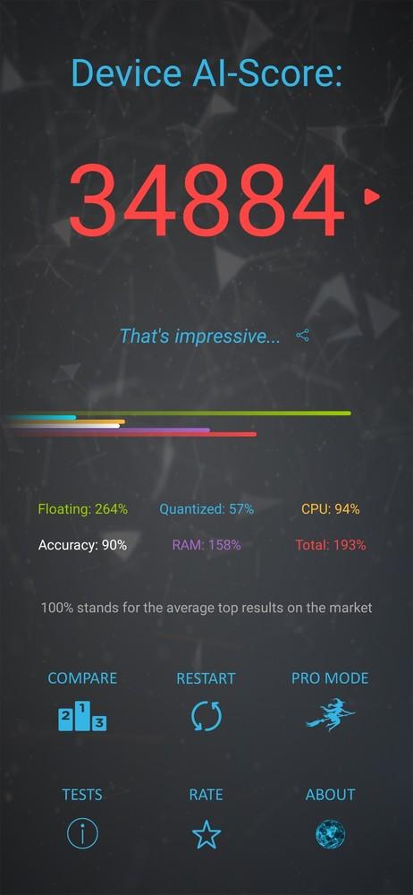 荣耀9X PRO AI Benchmark测试