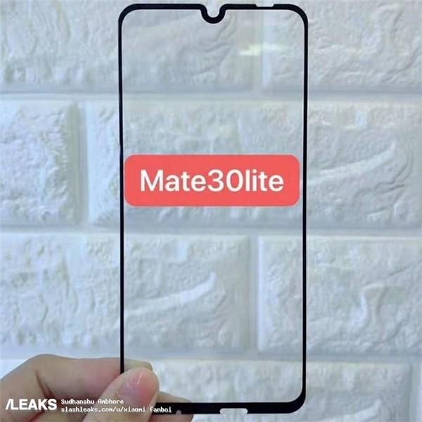 华为Mate 30Lite钢化膜曝光(图源Slashleaks)
