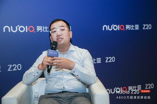 努比亚品牌联合创始人、努比亚品牌设计总监王汇