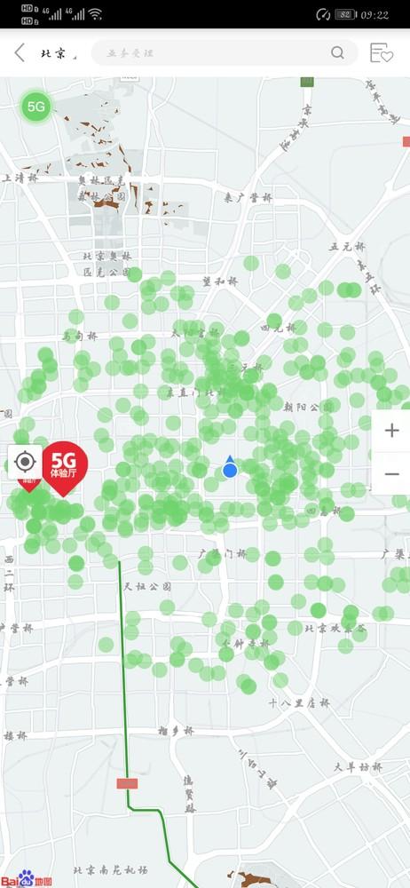 中国联通北京5G网络覆盖