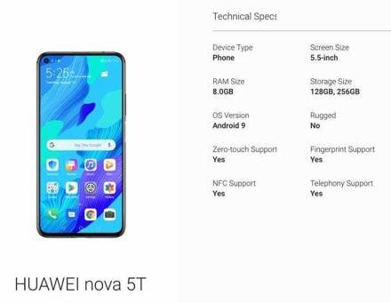 华为nova 5T配置(图片来源网络)
