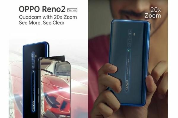 OPPO Reno 2真机曝光(图源微博)