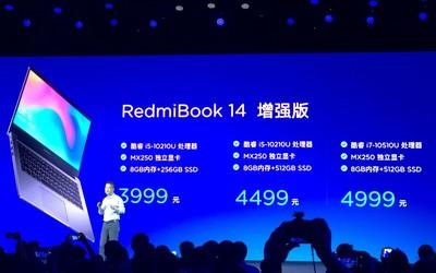 RedmiBook 14增强版面世 配备十代酷睿处理器 3999起