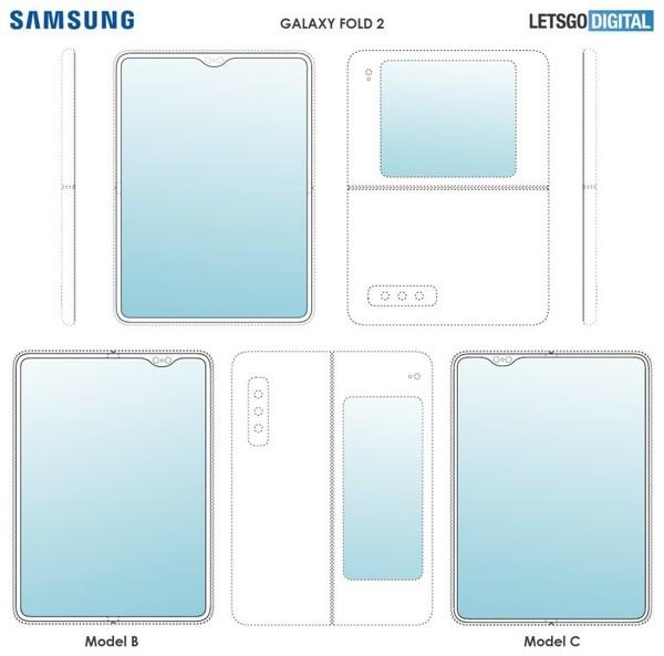 三星Galaxy Fold 2专利图曝光 有3种设计/6颗摄像头
