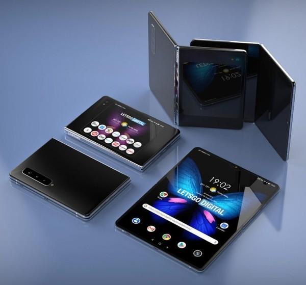三星Galaxy Fold 2专利图曝光 外部屏幕更大/支持5G