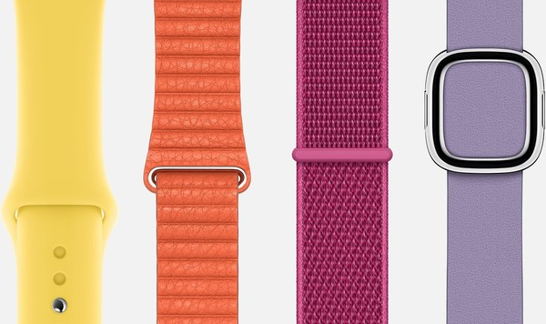 多种不同的Apple Watch表带