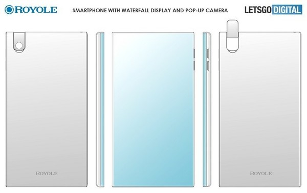 柔宇全新瀑布屏手机专利曝光:翻转摄像头设计很酷炫