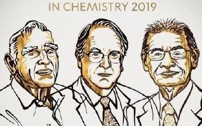 2019诺贝尔化学奖揭晓 奖励锂离子电池研究/三人获奖
