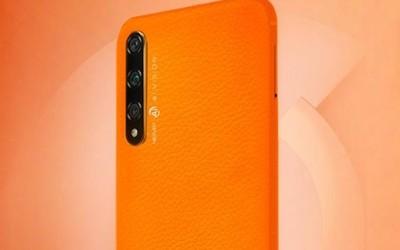 榮耀20S橙色版意外曝光 疑似素皮設計握持手感如何