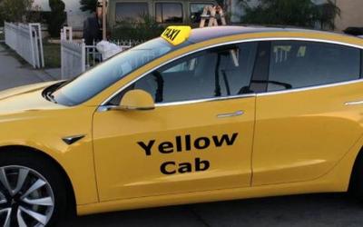 紐約官方批準黃色車身的Model 3作為純電動出租車