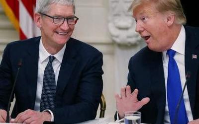 """""""库特CP""""? 特朗普与库克同游美国德克萨斯州苹果工厂"""