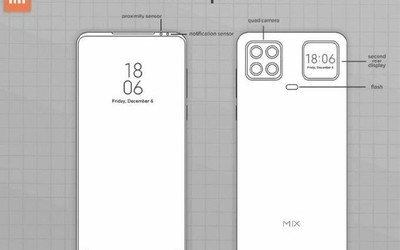 小米全新专利有够厉害!四摄+背部副屏 前置镜头没了