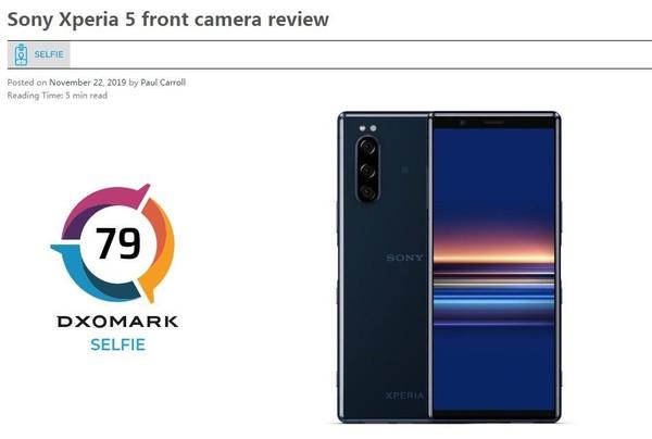 67分 DxOMARK公布索尼Xperia 5自拍得分 曝光准确