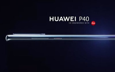 华为P40最新渲染图曝光 四曲面设计/前置双打孔