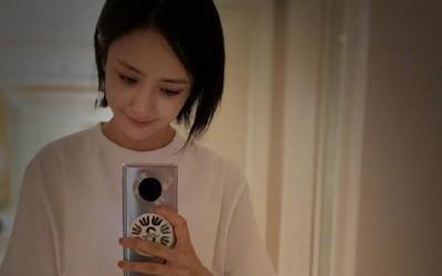 佟丽娅双十二换新手机?微博自拍使用的新款手机亮了