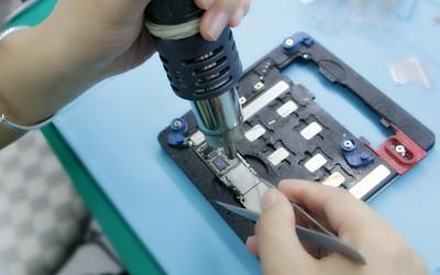 手機主板維修實操教學,主板小元件如何拆裝