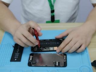 手机主板维修实操教学,主板各接口如何拖锡