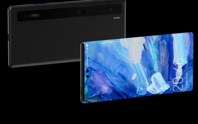 华为P40系列最新渲染图曝光  你们熟悉的环幕屏回来了