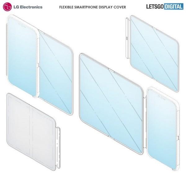 LG手机新专利曝光 利用大尺寸柔性屏保护套实现双屏