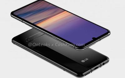 LG G9渲染图曝光 水滴屏后置横向四摄且保留耳机孔