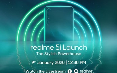 realme 5i将于1月9日发布 后置四摄更有5000mAh电池