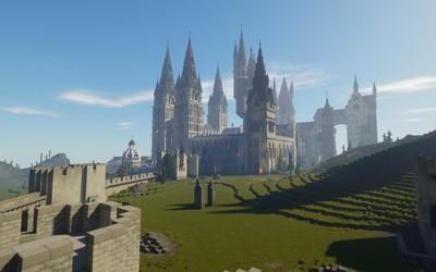 玩家在《我的世界》中建造霍格沃茨 玩《哈利波特》
