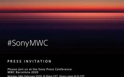 索尼发出MWC 2020邀请函 惊喜可能不止一款5G手机