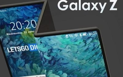"""三星Galaxy Z Flip新渲染图曝光 真的可以折成""""Z""""字形"""