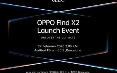 OPPO Find X2发布会时间曝光 2月22日巴塞罗那见?