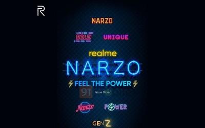 realme Narzo新系列曝光 主打年轻群体将发两款新机