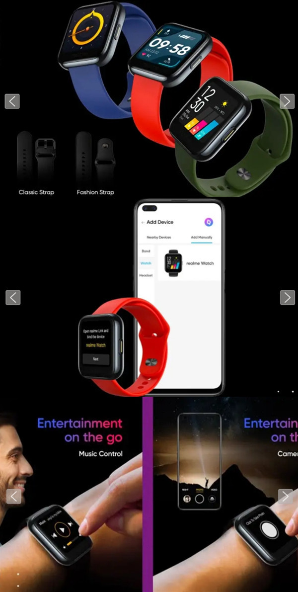 realme Watch(图源91mobiles)